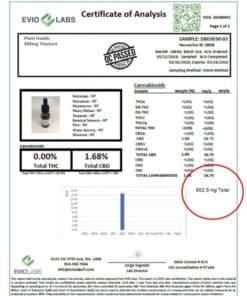 Plant Health Broad Spectrum CBD Oil 500mg Lab Test