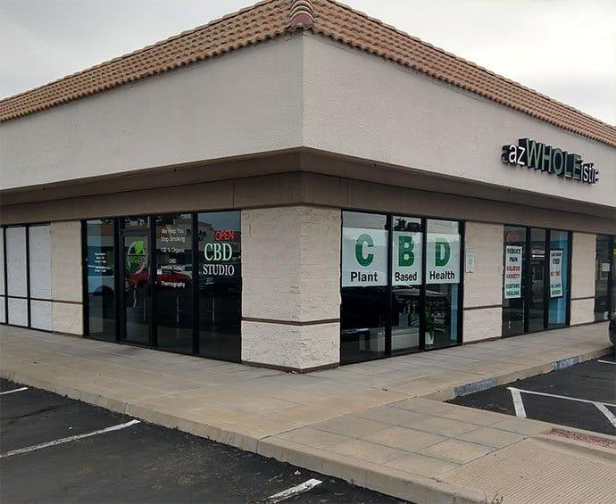 azWHOLEistic Phoenix CBD Studio & Dispensary Exterior Corner