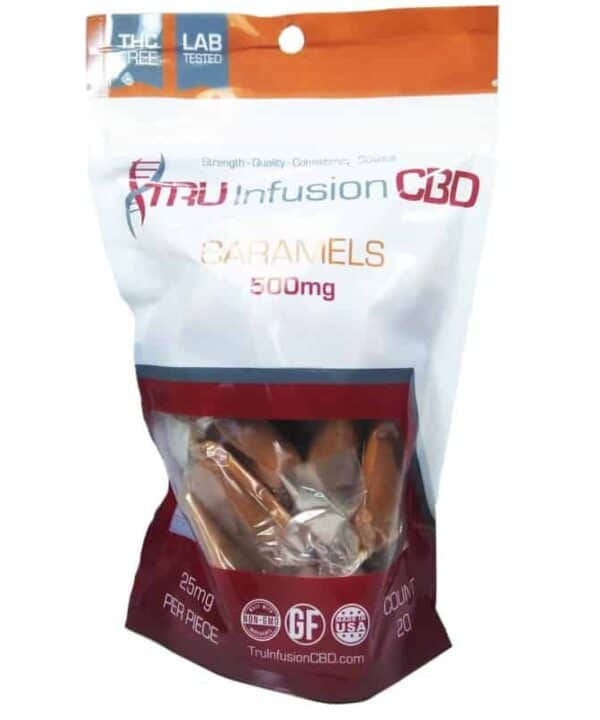 Tru Infusion 500mg Soft Chew CBD Caramels