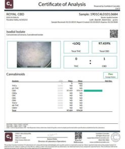 Royal Isolate Cryslalline Lab Test