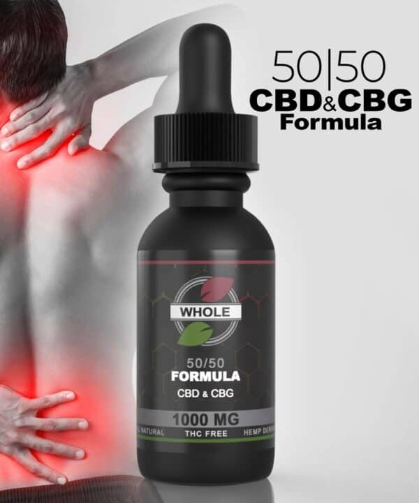 WHOLE 1000mg 50/50 CBG and CBDPAIN Formula